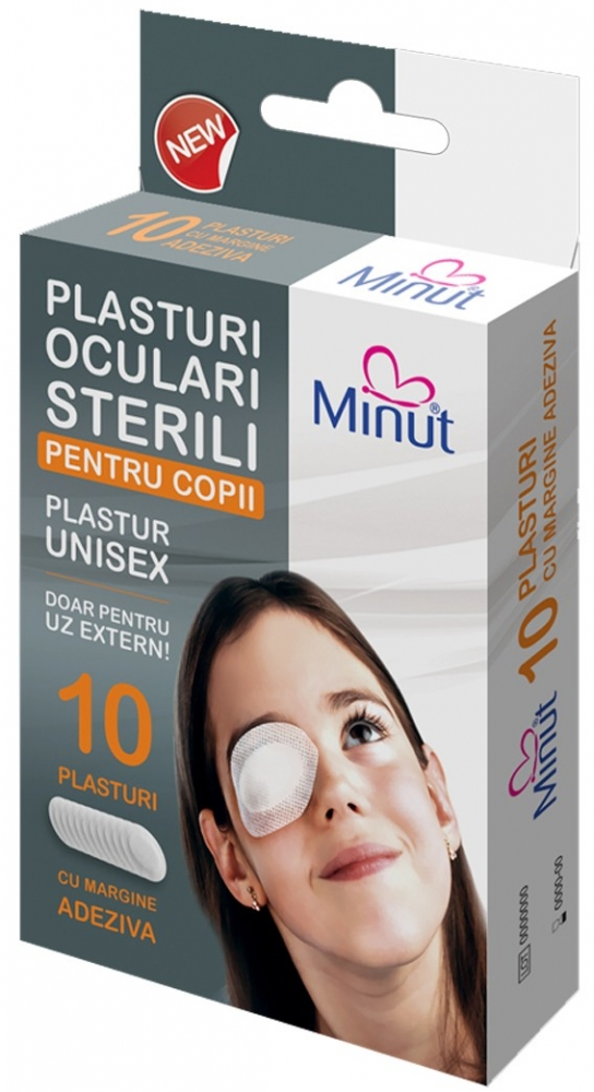 Plasturi oculari sterili Minut pentru copii-10buc