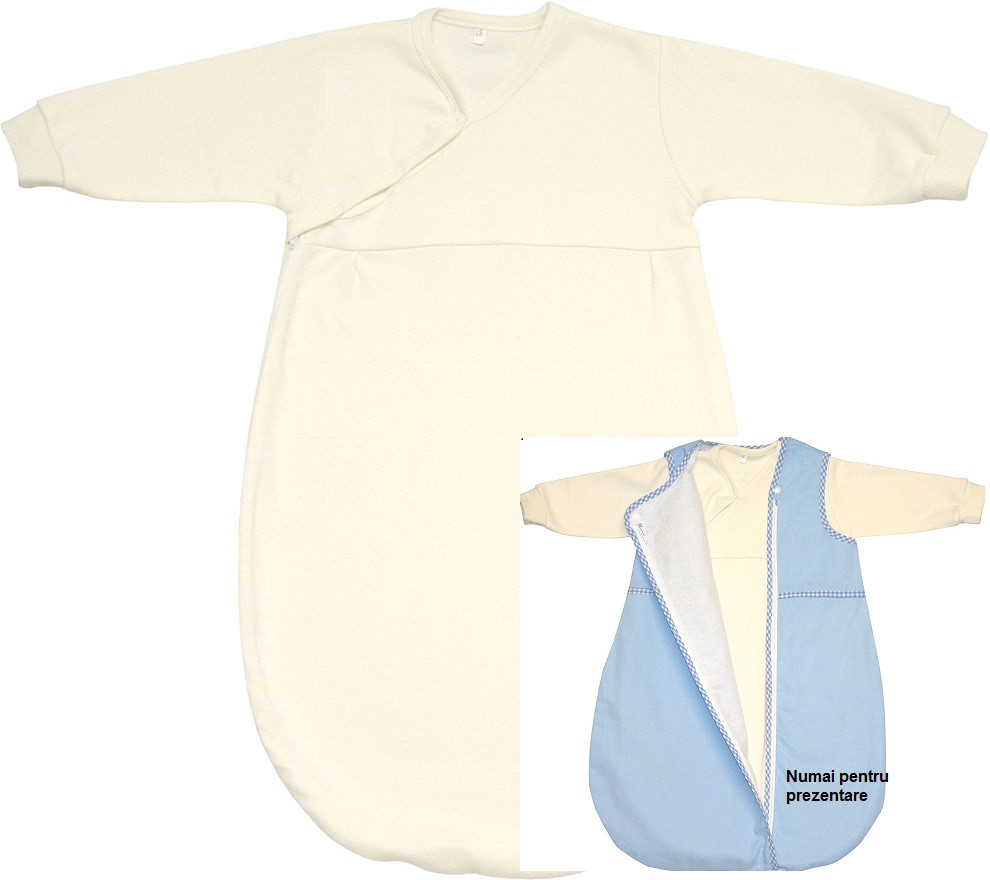 Primul sac de dormit cu maneca lunga 100 bumbac 55 cm Fillikid