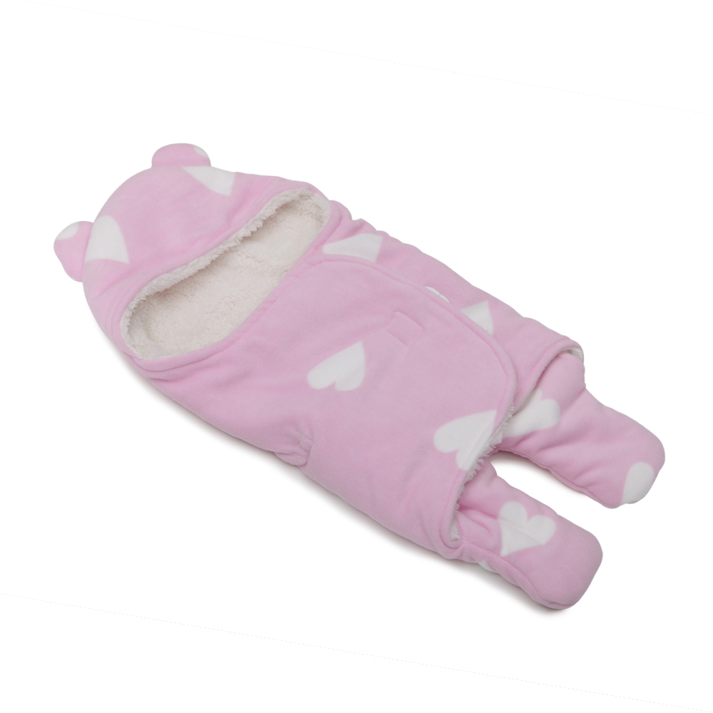 Salopeta bebelus tip Footmuff Baby Bag Cosy Pink