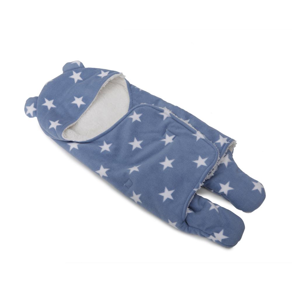 Salopeta bebelus tip Footmuff Baby Bag Cosy Blue