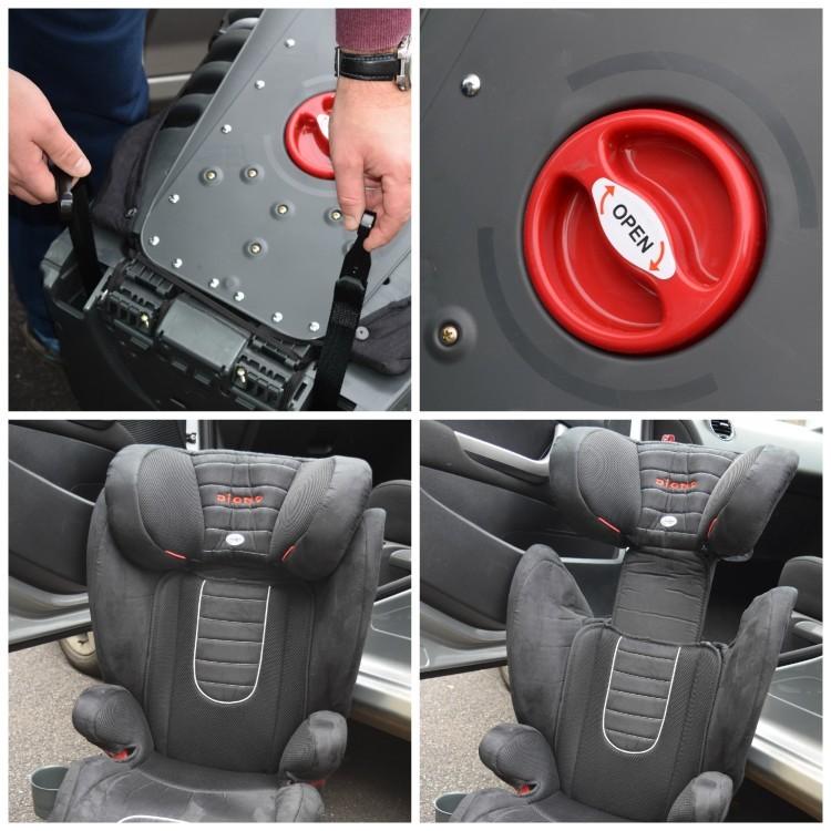 Scaun Auto 15-36 kg cu Prindere Isofix Monterey 2 Red