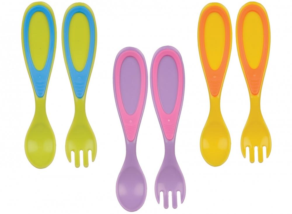 Set tacamuri - lingura si furculita - diverse culori