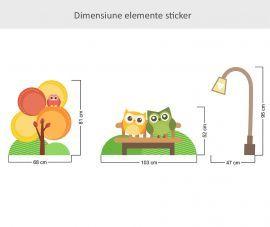 Sticker decorativ Impreuna in parc 96 x 116 cm