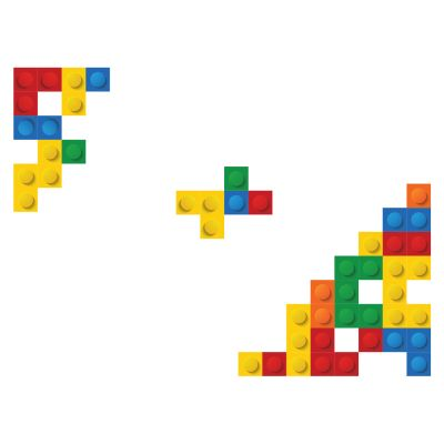 Sticker decorativ Lego Blocks