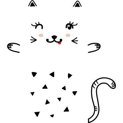 Sticker decorativ usa Pisicuta vesela
