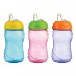 Cana anticurgere Minut Baby 6+, cu cioc silicon 300 ml - diverse culori
