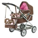 Carucior pentru papusi Maclaren Travelmate Pram Brown-Pink