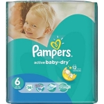 Scutece Pampers Active Baby 6 Value Pack 15+ Kg 36 buc