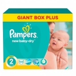 Scutece Pampers New Baby-Dry 2 Mini 3-6Kg 144 buc