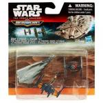 Set Star Wars Micromachines - Poes X-Wing Fighter, Tie Fighter, Star Destroyer