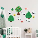 Sticker decorativ Lego Landscape 70 x 85 cm
