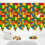 Sticker decorativ Lego Wall 288 x 208 cm