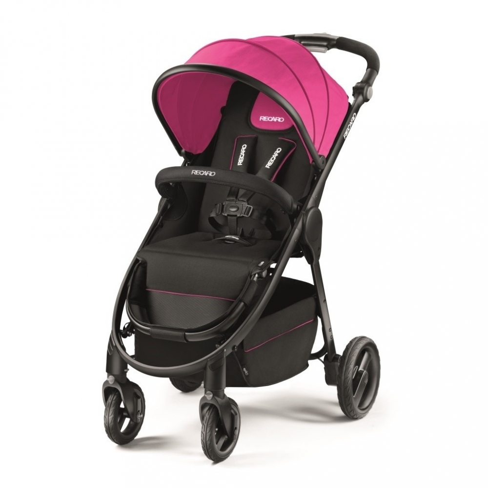 Carucior 3 in 1 pentru Copii Citylife Pink cu Landou si Scaun Auto Privia Recaro