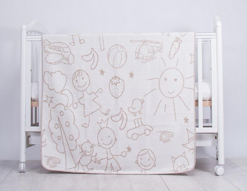 Paturica Bebe Drawings Beige 110 X 90 Cm