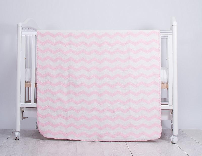 Paturica Bebe Zig Zag Pink 110 X 90 Cm