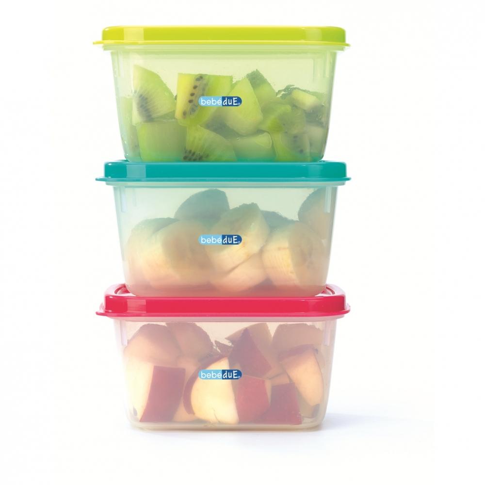 Set 3 Recipiente Hrana Copii Colours And Flavours
