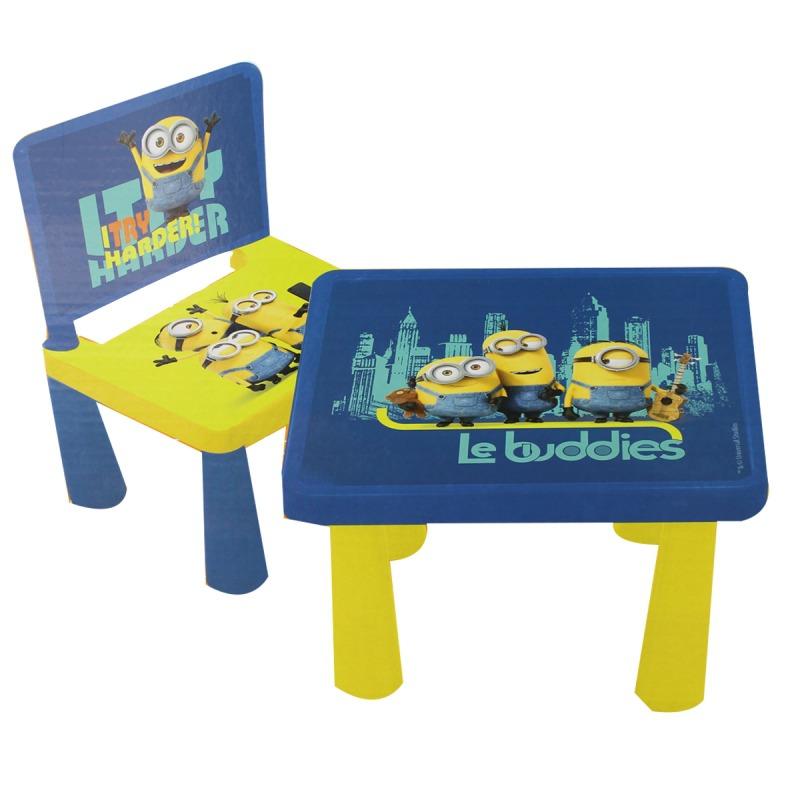 Set scaun si masuta Minions