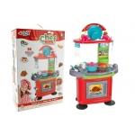 Bucatarie plastic echipata Globo 07264 pentru copii cu aragaz si alte accesorii