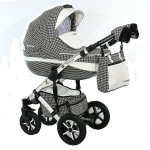 Carucior 3 in 1 Poema White