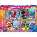 Puzzle Trolls 4x100 piese