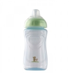 Pahar cu supapa silicon 300 ml Baby blue perl Rotho-babydesign