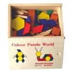 Set tangram (puzzle figuri geometrice)