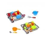 Set vasute din plastic Globo pentru copii cu uscator si tacamuri