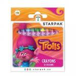 Creioane colorate 12 culori cerate Trolls