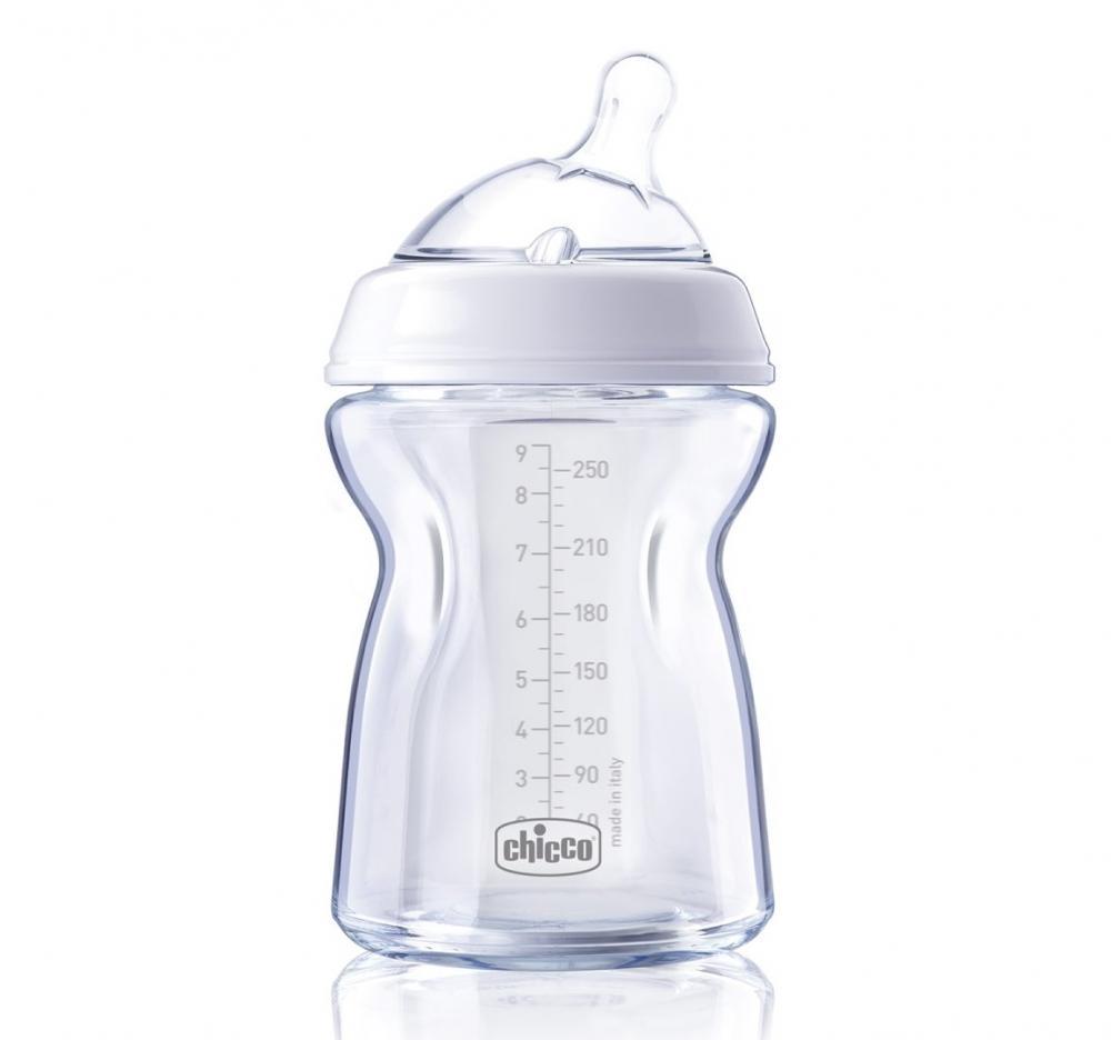 Biberon Chicco Natural Feeling Pureglass 250ml Tet