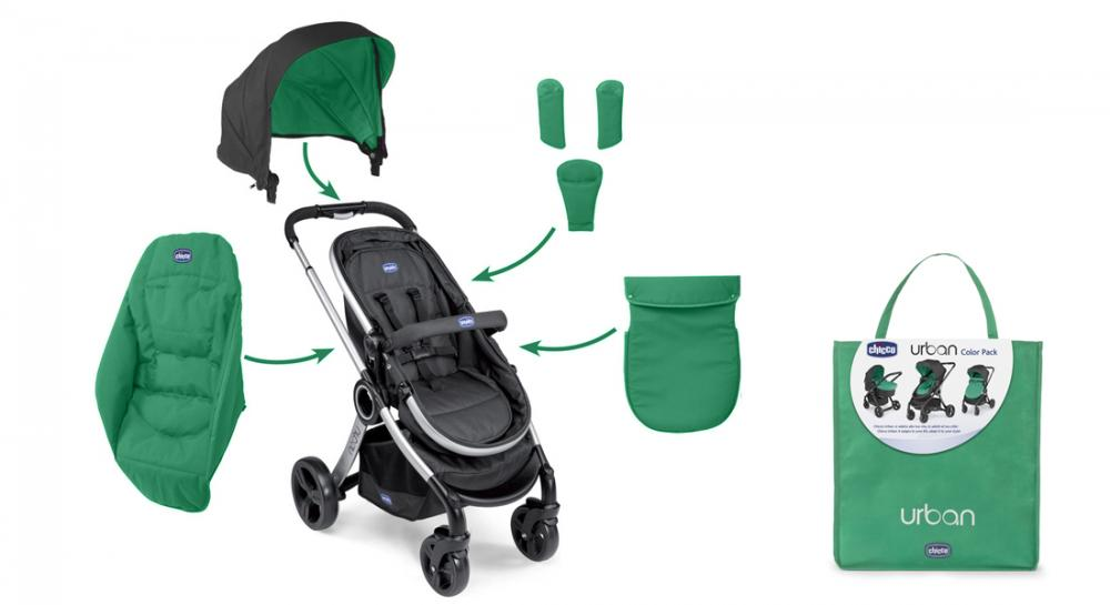 Color Pack Carucior Chicco Urban Green Wave