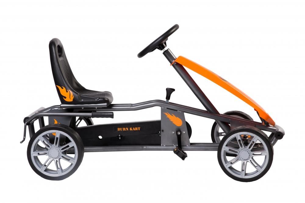 Kart cu pedale pentru copii Burn Orange
