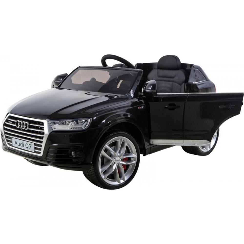 Masinuta electrica Audi Q7 cu scaun de piele si telecomanda