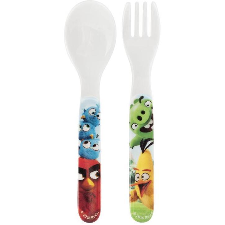 Set Lingurita Si Furculita Melamina Angry Birds Lulabi 8161550