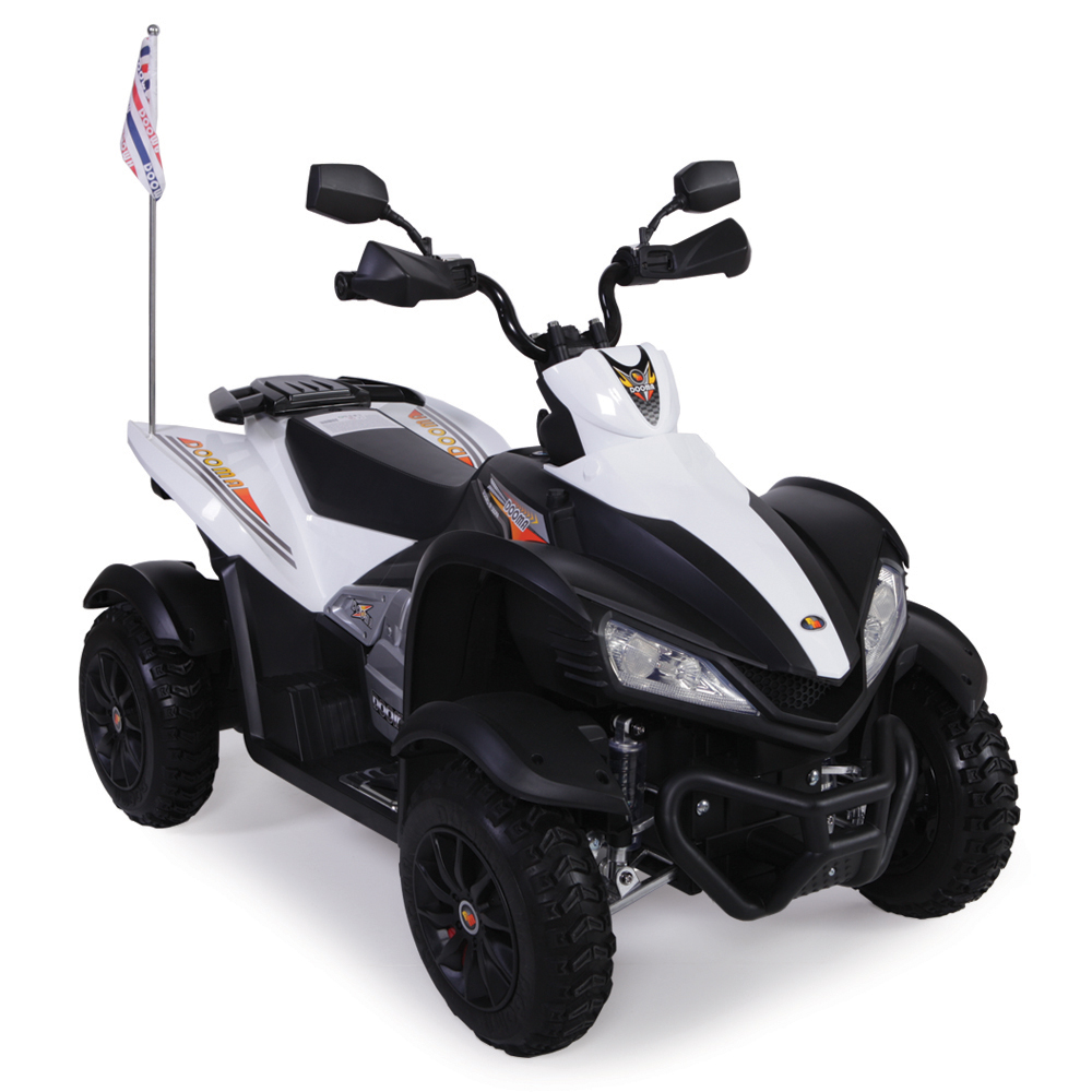 Atv electric cu roti din cauciuc Beach White