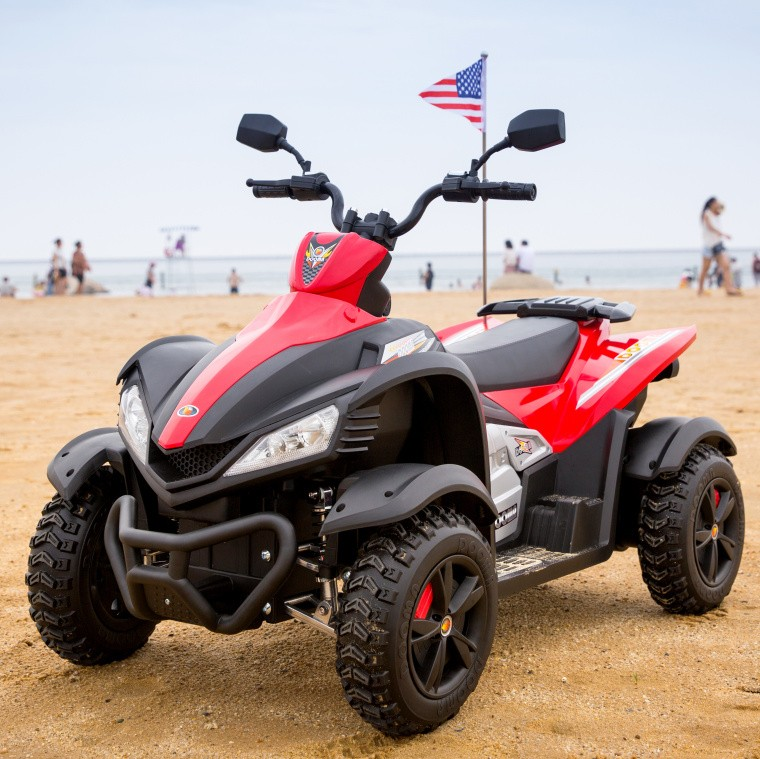 Atv electric cu roti din cauciuc Beach Red
