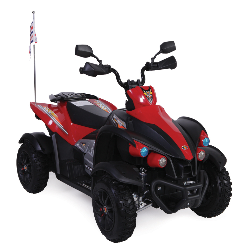 Atv electric cu roti din cauciuc Hawk Red