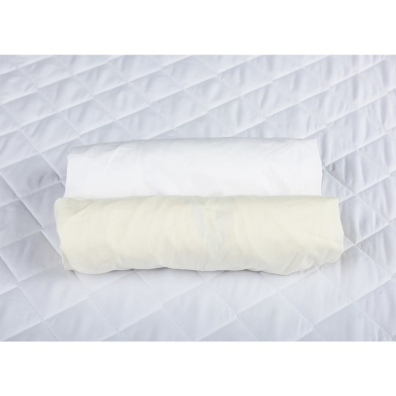 Set 2 x cearceaf cu elastic pt patut de 120x60 cm crem+alb imagine