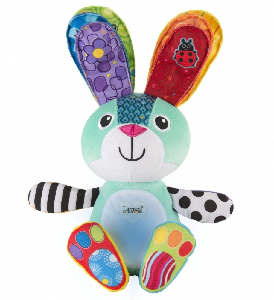Jucarie interactiva si lampa de veghe Sonny the Glowing Bunny