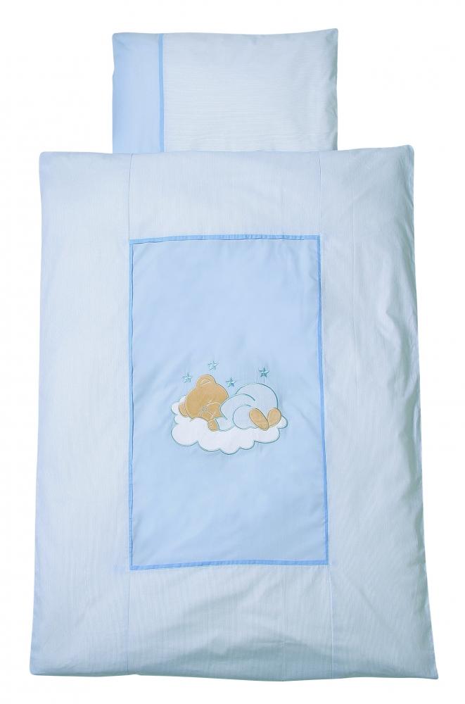 Lenjerie pat Sleeping Bear bleu