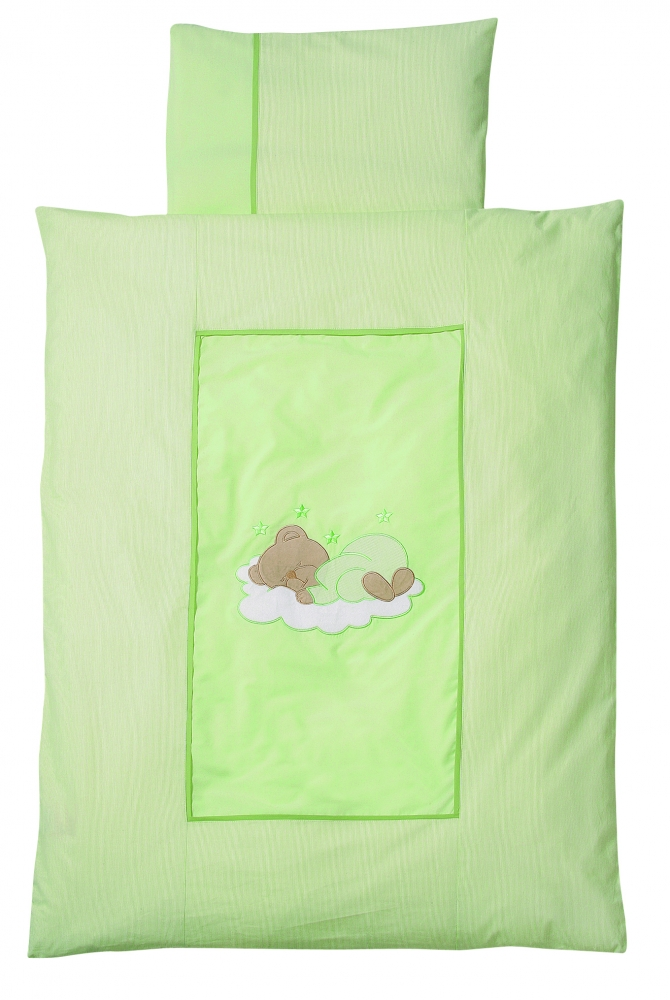 Lenjerie pat Sleeping Bear green