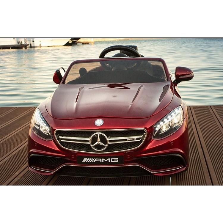 Masinuta electrica Mercedes Benz S63 AMG Red cu roti din cauciuc imagine