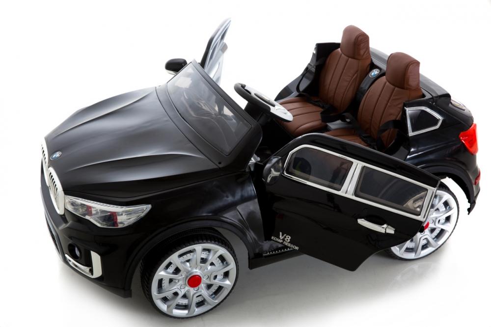 Masinuta electrica cu doua locuri si roti din cauciuc Impress Jeep Negru