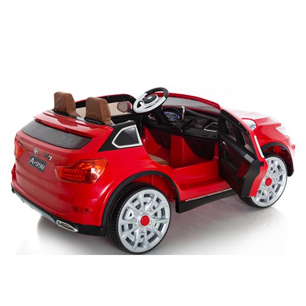 Masinuta electrica cu doua locuri si roti din cauciuc Impress Jeep Rosu