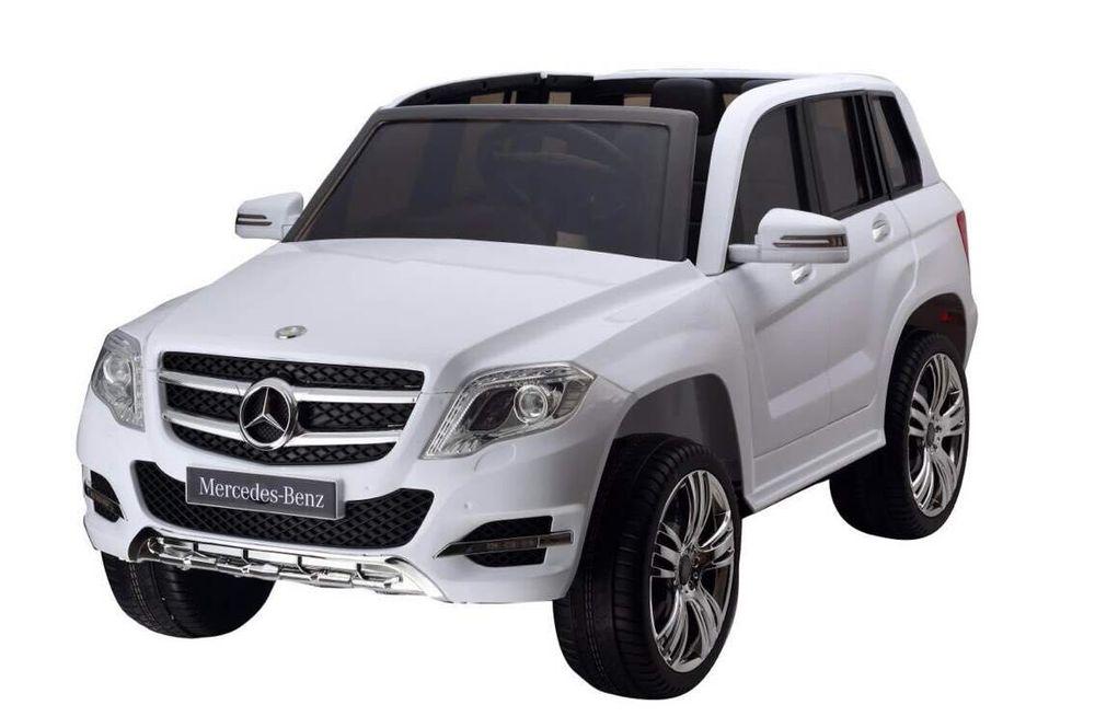 Masinuta electrica cu telecomanda si roti din cauciuc Mercedes Benz GLK-Class Alba