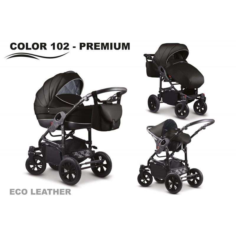 Carucior 2 in 1 Mikado City Star Premium Eco-Leather Black