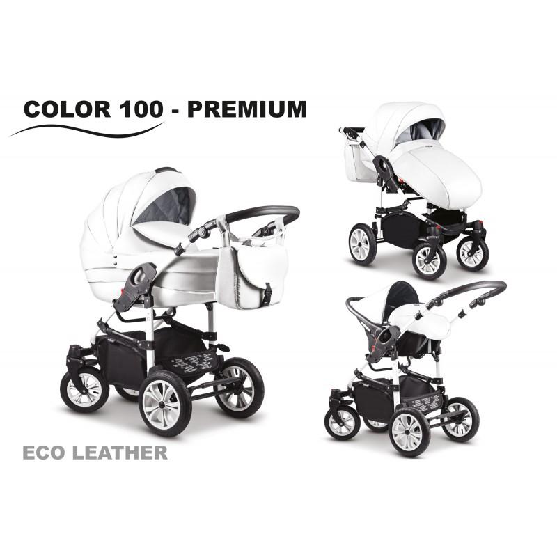 Carucior 2 in 1 Mikado City Star Premium Eco-Leather White