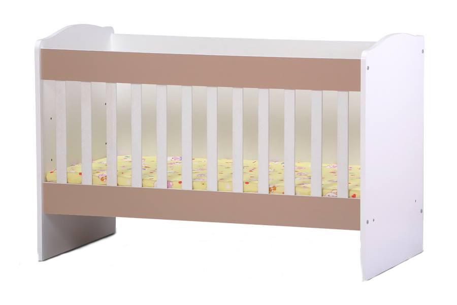 Patut Din Lemn Transformabil In Birou Xenia White Cappuccino