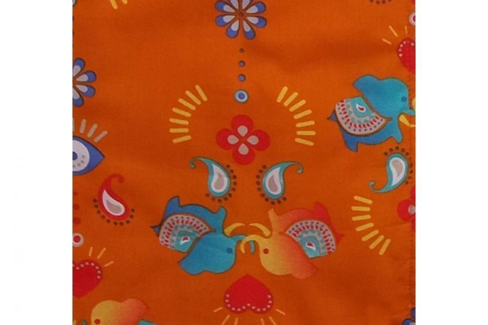 Sac de dormit 0.5 tog Jocul Elefantilor portocaliu 60 cm