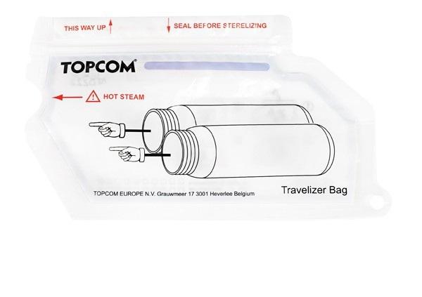 Set 30 pungi refolosibile pentru sterilizarea biberoanelor Travelizer Bag imagine