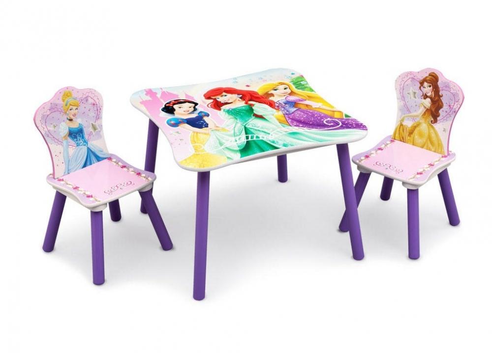Set masuta si 2 scaunele Disney Princess Friendship